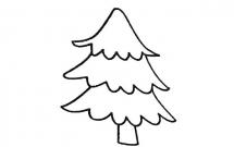 4款简单的松树简笔画大全
