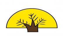 扇形的大树简笔画