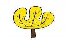 简单涂色的大树简笔画