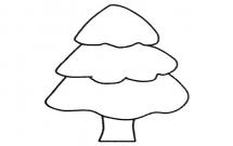 儿童学画松树简笔画步骤