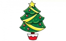 好看的圣诞树怎么画