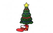 一步步教你画彩色的圣诞树