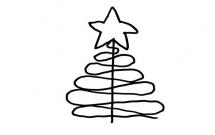 5款简单的圣诞树简笔画