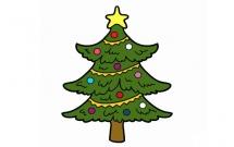 圣诞树简笔画带颜色