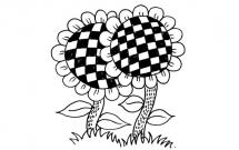 6款造型各异的向日葵简笔画