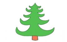 像塔一样的松树简笔画