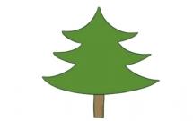 非常好画的松树简笔画
