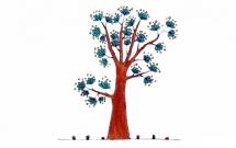 一组漂亮的大树简笔画大全