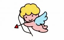 射箭的天使简笔画教程