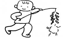 春节放鞭炮的简笔画