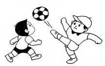 踢球的小孩子人物简笔画
