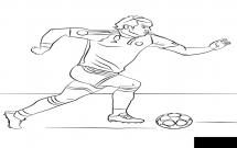 一组知名的足球明星简笔画大全