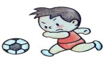 踢足球的小朋友简笔画教程