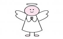 一步步教你画简单的小天使