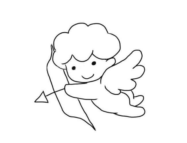 小天使丘比特简笔画