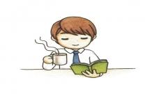 读书的男生简笔画