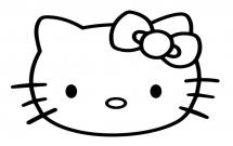 kitty猫大头贴的简单画法