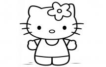 关于kitty猫的简笔画