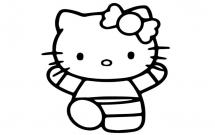 可爱的kitty猫简笔画