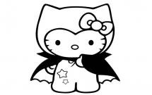 蝙蝠侠kitty猫简笔画