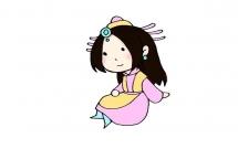 中国古代卡通女孩简笔画教程