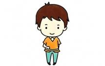 简单六步画出可爱的小男孩