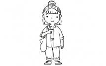 9款时尚小仙女简笔画大全