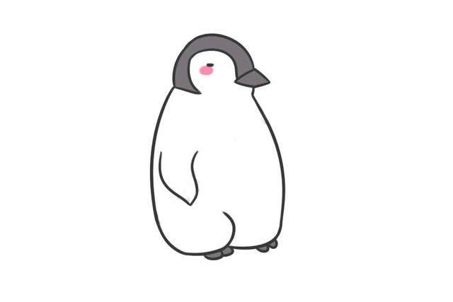 有点发困的企鹅简笔画