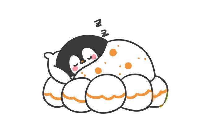 睡觉的企鹅简笔画
