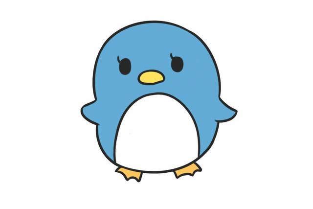 萌萌哒小企鹅儿童简笔画