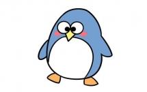 大眼睛企鹅简笔画