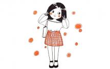 一组时尚的女生简笔画大全