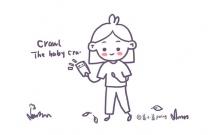 看手机的小女孩简笔画