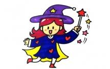 魔法师小女孩简笔画教程
