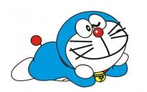 趴在地上的哆啦A梦简笔画