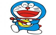 非常开心的哆啦A梦简笔画