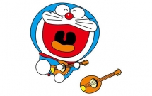 弹吉他的哆啦A梦简笔画