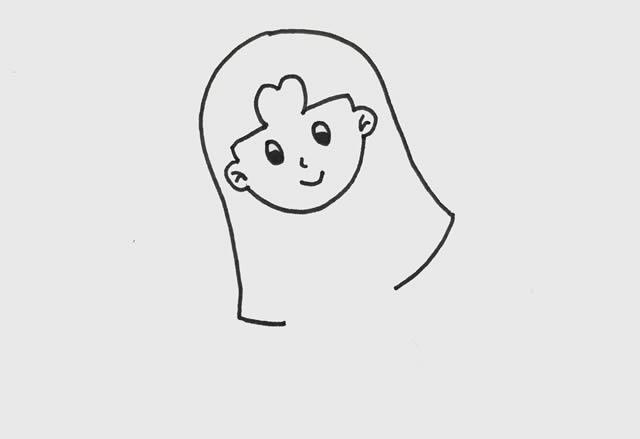 简单的少女是怎么画